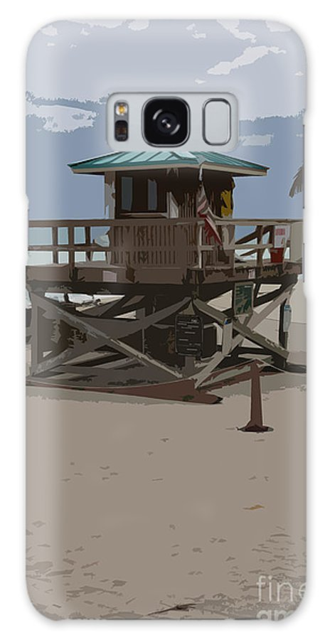 Lifeguard Station Galaxy S8 Case featuring the photograph Lifeguard Station IIi Abstract by Christiane Schulze Art And Photography