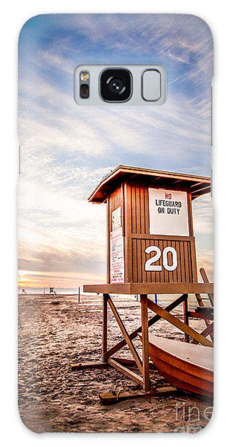 America Galaxy S8 Case featuring the photograph Lifeguard Tower 20 Newport Beach Ca Picture by Paul Velgos