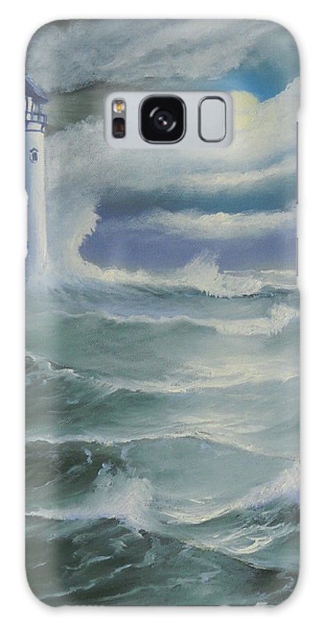 Seascape Galaxy S8 Case featuring the painting Light At Sea by Kathie Camara