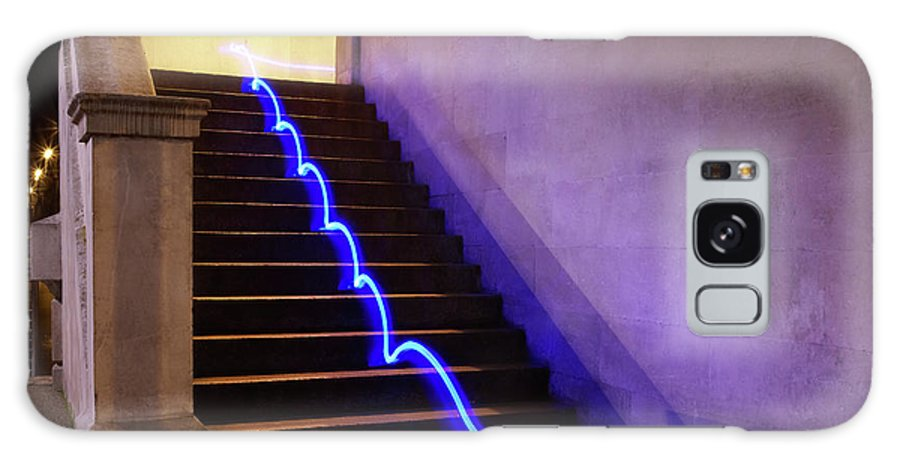 Steps Galaxy Case featuring the photograph Light Trail On Steps by Tim Robberts