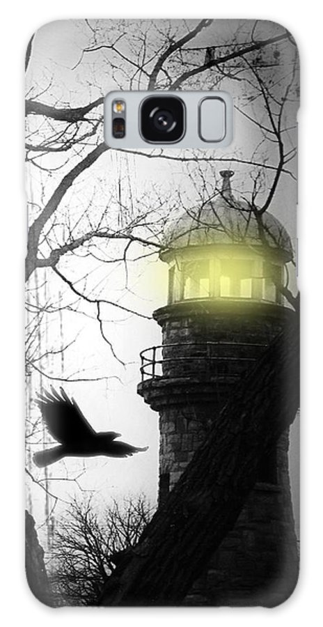 Lighthouse Galaxy S8 Case featuring the photograph The Lighthouse Is Lit by Gothicrow Images