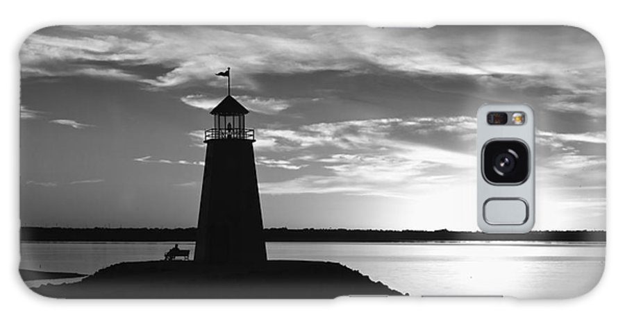 Lighthouse Galaxy S8 Case featuring the photograph Lighthouse In Black And White by Betty LaRue