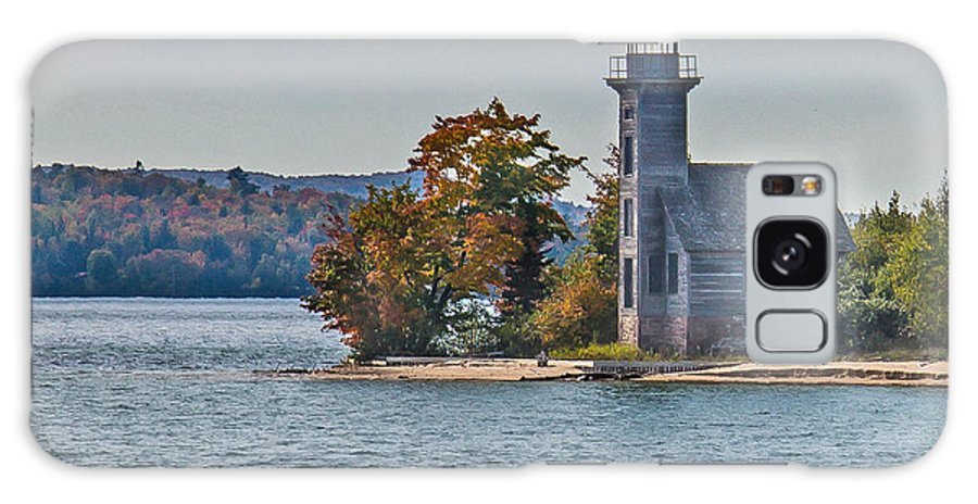 Lighthouse Galaxy S8 Case featuring the photograph Lighthouse On Grand Island Michigan by Jim Rettker