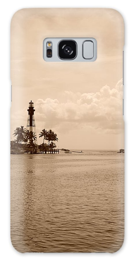 Sepia Galaxy S8 Case featuring the photograph Lighthouse Point by Rob Hans