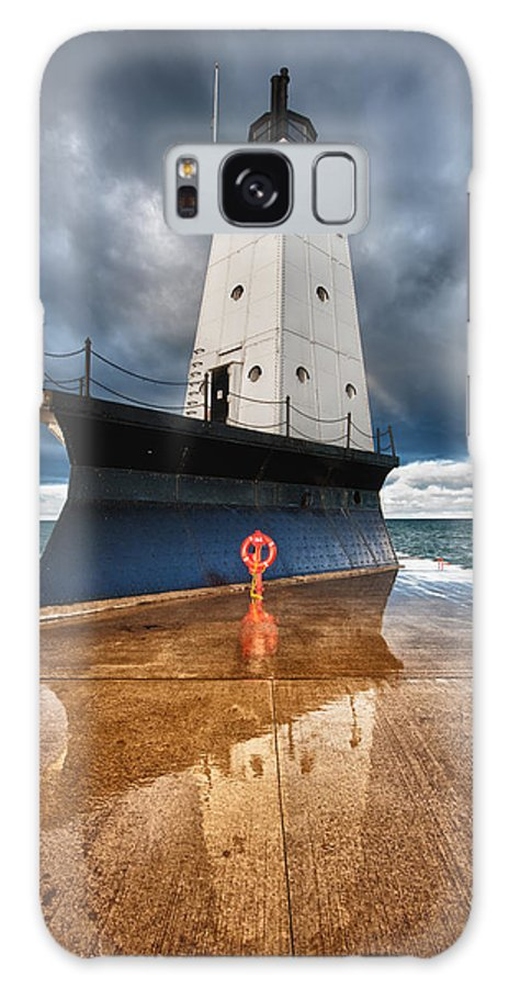 Clouds Galaxy S8 Case featuring the photograph Lighthouse Reflection by Sebastian Musial