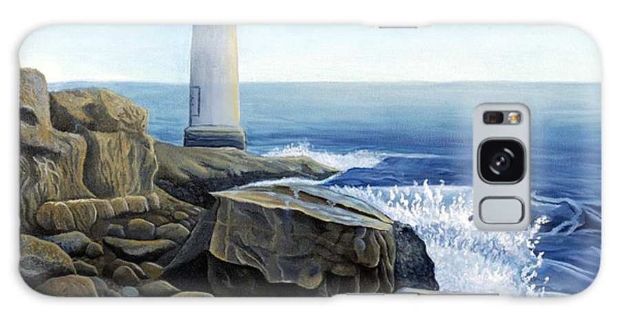 Rick Huotari Galaxy Case featuring the painting Lighthouse by Rick Huotari