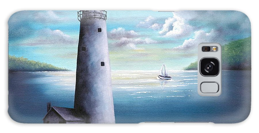 Oil Galaxy S8 Case featuring the painting Lighthouse by Ruth Bares