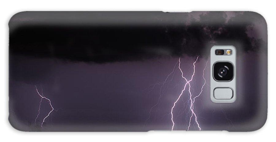 Lightning Galaxy S8 Case featuring the photograph Lightning Composite by Rachel Sanderoff