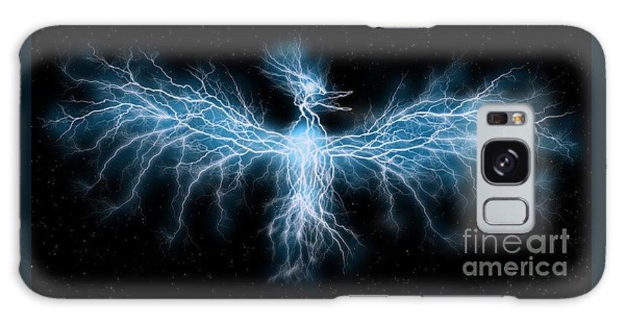 Phoenix Galaxy S8 Case featuring the digital art Lightning Phoenix by Helena Marais