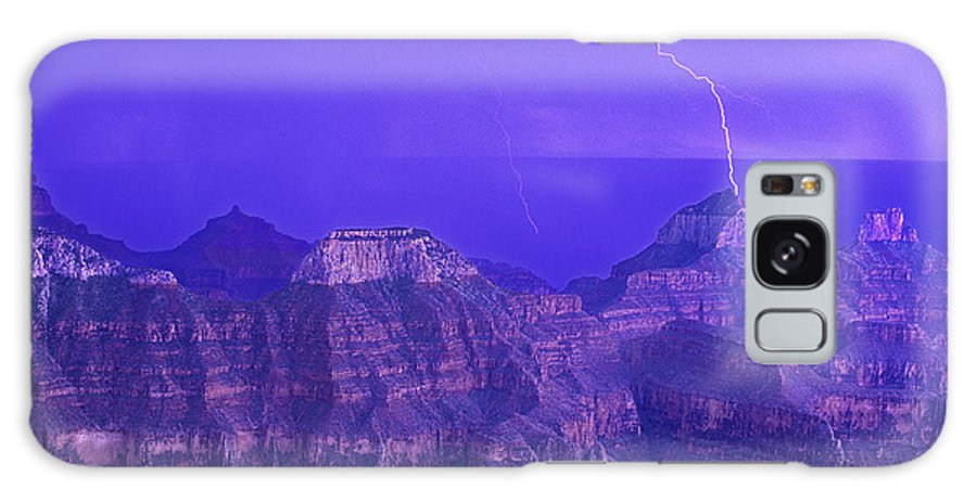North America Galaxy S8 Case featuring the photograph Lightning Storm North Rim Grand Canyon National Park Arizona by Dave Welling