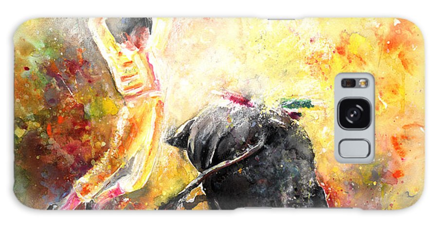 Animals Galaxy Case featuring the painting Lightning Strikes by Miki De Goodaboom