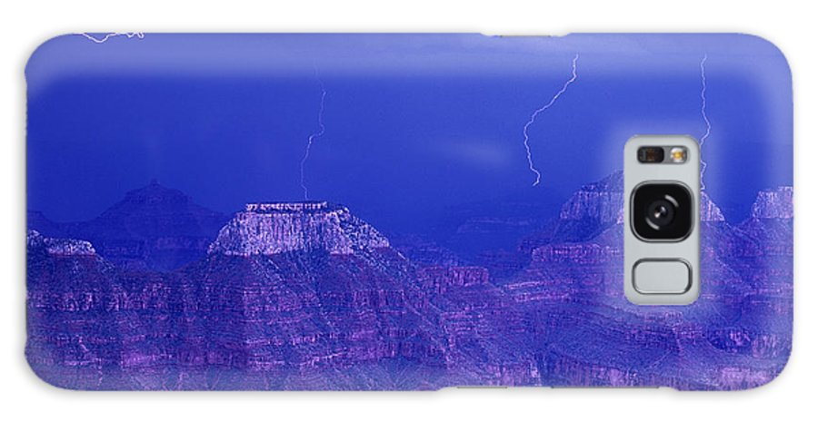 North America Galaxy S8 Case featuring the photograph Lightning Strkes At The North Rim Grand Canyon National Park by Dave Welling