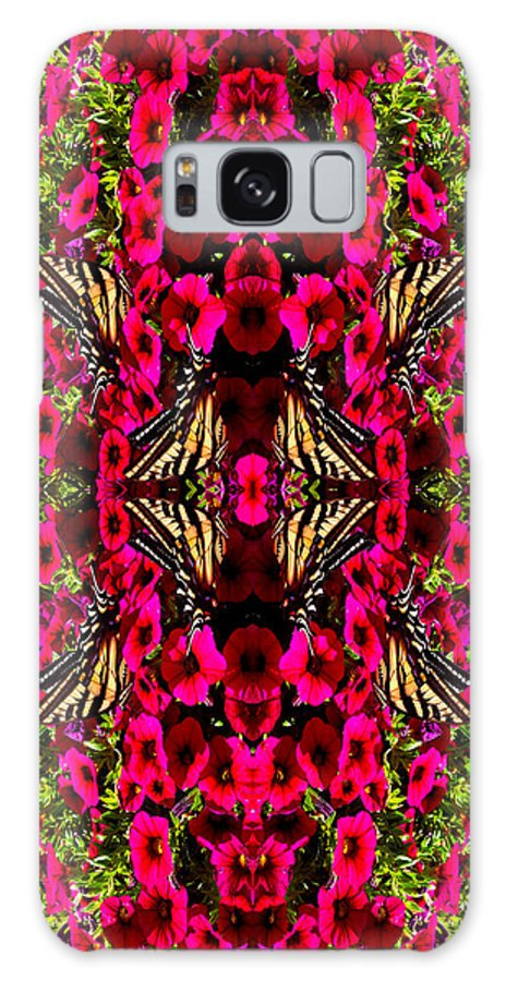Fucshia Galaxy S8 Case featuring the photograph Like Butterflies I Change by Deprise Brescia