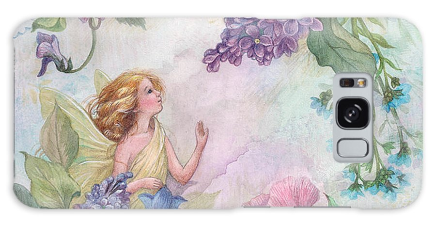 Enchanting Galaxy S8 Case featuring the painting Lilac Enchanting Flower Fairy by Judith Cheng