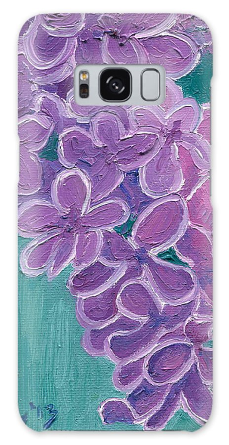 Lilacs Galaxy S8 Case featuring the painting Lilacs by Nikolette Galenza