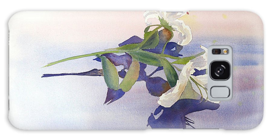 Lily Galaxy S8 Case featuring the painting Lilies At Rest by Patricia Novack