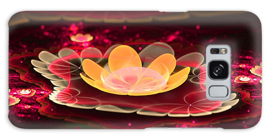 Flora Galaxy S8 Case featuring the digital art Lilies On Lava Bed by Ester Rogers