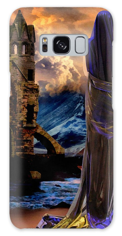 Liltih Galaxy S8 Case featuring the painting Lilith Of The Sea...a Gothic Tale by Leapdaybride