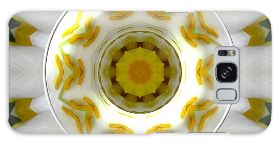 Lily Galaxy S8 Case featuring the photograph Lily And Daffodil Kaleidoscope Under Glass by Rose Santuci-Sofranko