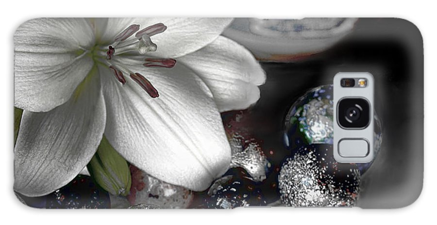 Lily Galaxy S8 Case featuring the photograph Lily And Marbles by Bonnie Willis