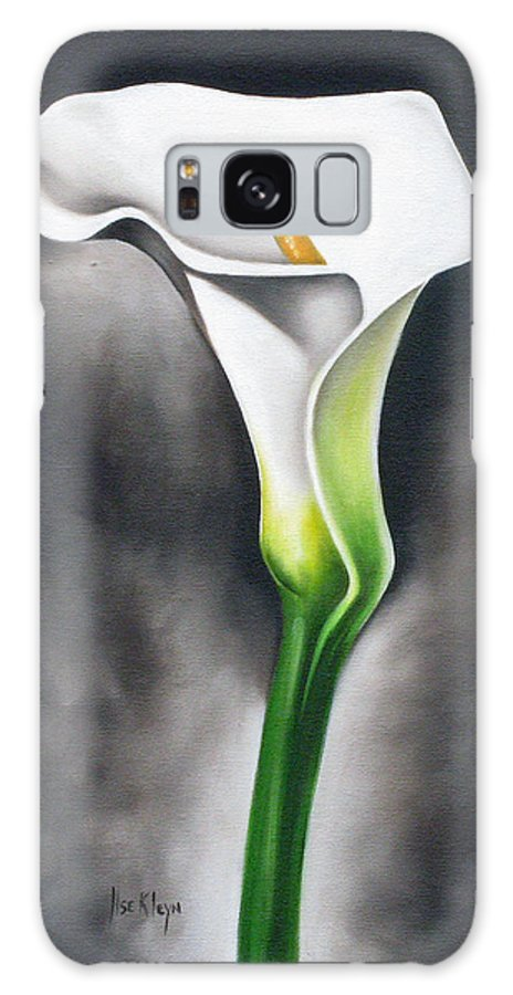 Lilly Galaxy Case featuring the painting Lily by Ilse Kleyn