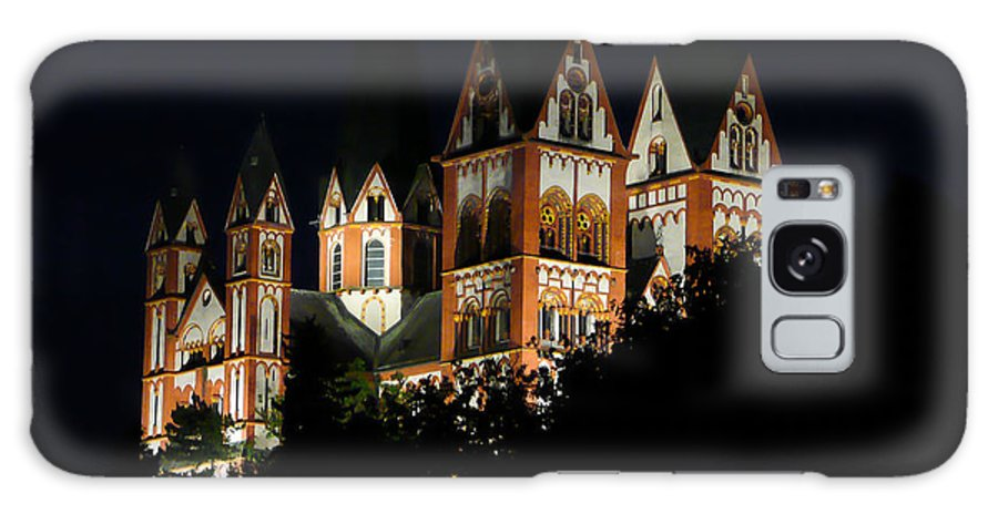 Limburg Galaxy S8 Case featuring the photograph Limburg Cathedral At Night by Jenny Setchell