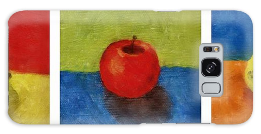 Lime Galaxy S8 Case featuring the painting Lime Apple Lemon by Michelle Calkins