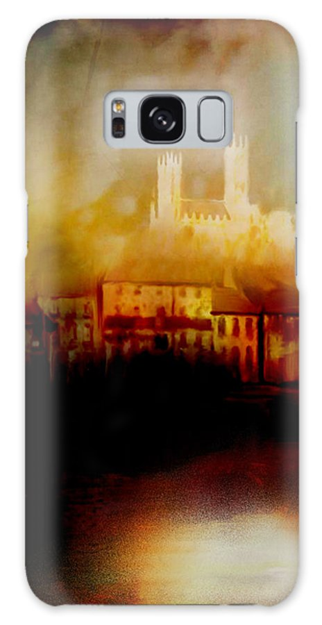 Painting Galaxy S8 Case featuring the painting Lincoln Cathedral by Chris Knights