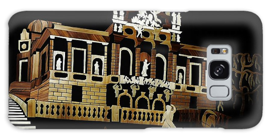Linderhof Palace Galaxy S8 Case featuring the mixed media Linderhof Palace_2 by Straw Art