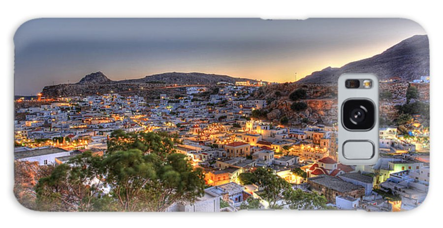 Architecture Galaxy S8 Case featuring the photograph Lindos Village Ancient Skyline Rhodes Greece by Ollie Taylor
