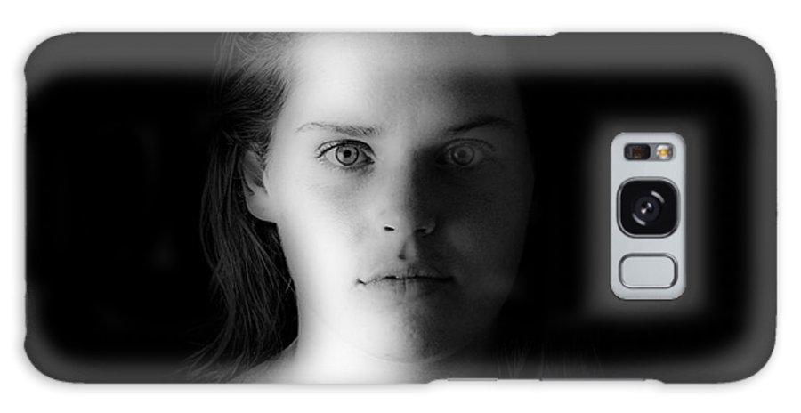 Face Galaxy Case featuring the photograph Lindsey Portrait 4 by Michael Cross