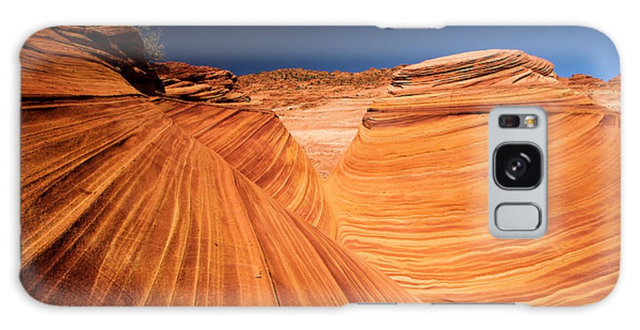 The Wave Galaxy S8 Case featuring the photograph Lines In Sandstone by Adam Jewell