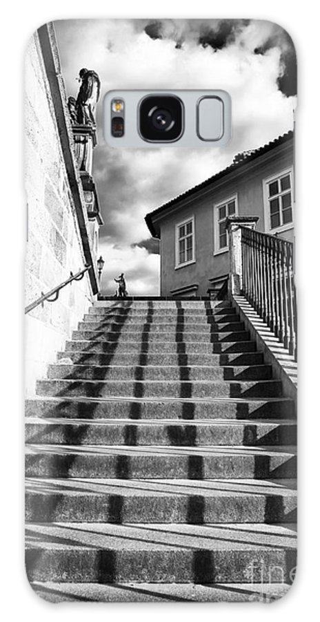 Lines On The Stairs Galaxy S8 Case featuring the photograph Lines On The Stairs by John Rizzuto