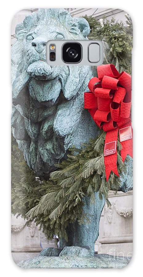 Art Institute Galaxy S8 Case featuring the photograph Lion In Winter by Patty Colabuono