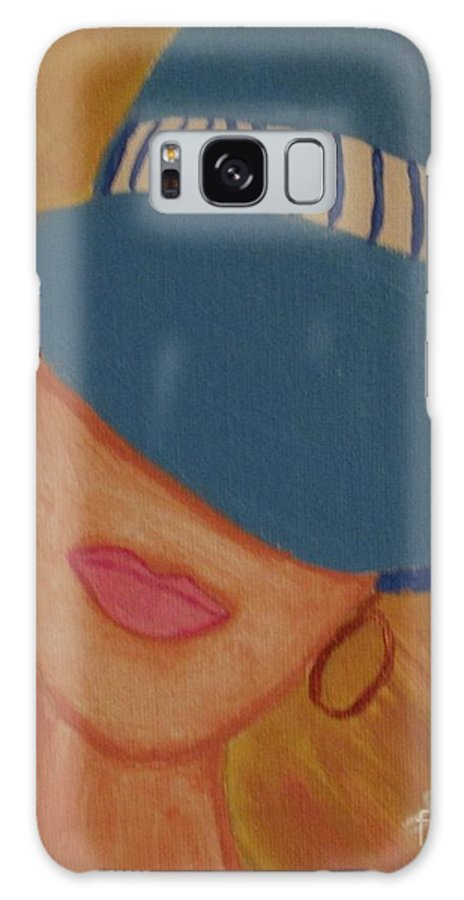 Lips Galaxy S8 Case featuring the painting Lips V by Julie Crisan