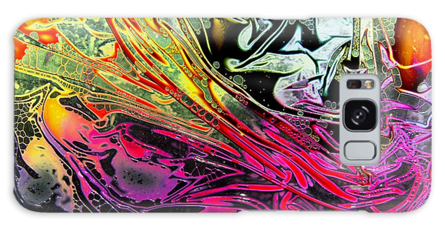 Surrealism Galaxy Case featuring the digital art Liquid Decalcomaniac Desires 1 by Otto Rapp