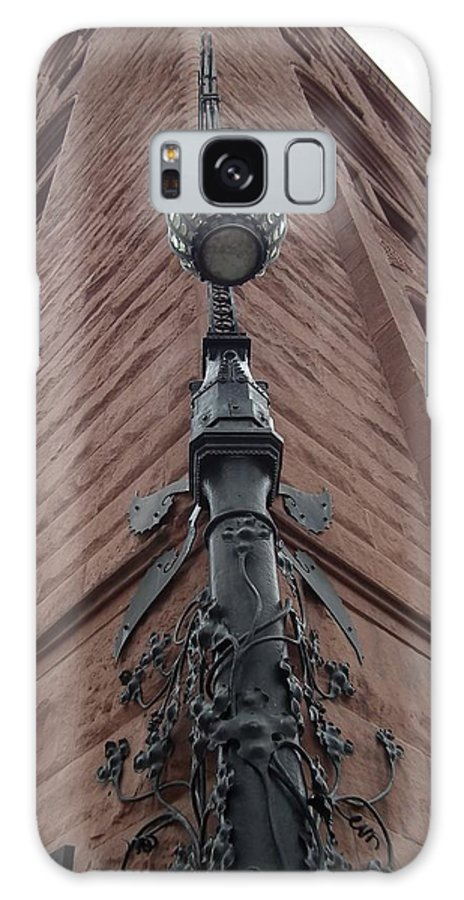 Society Bank Building Galaxy S8 Case featuring the photograph Lit Corner by Sharon Sammon
