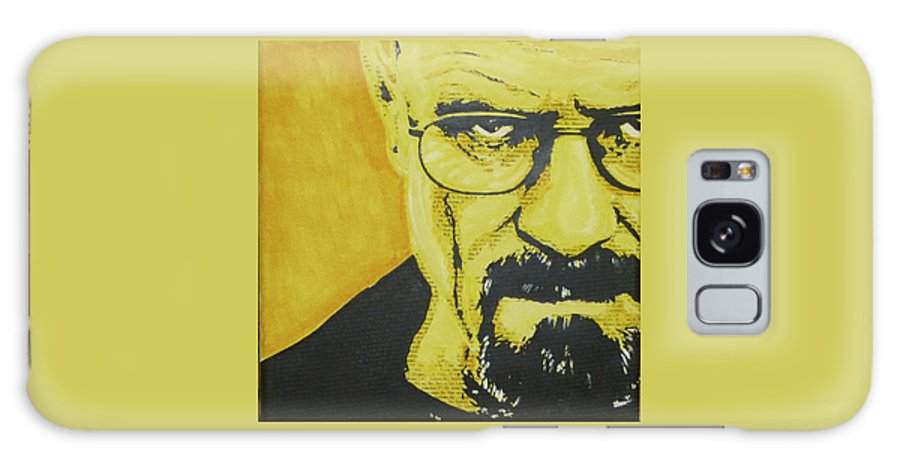 Breaking Bad Galaxy S8 Case featuring the painting Literally Walt White by Gary Hogben