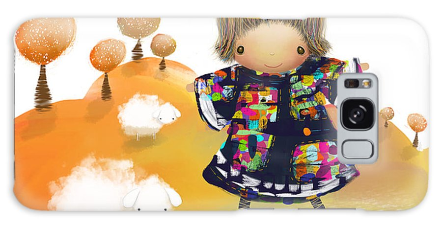 Little Angel Galaxy S8 Case featuring the painting Little Angel by Karin Taylor