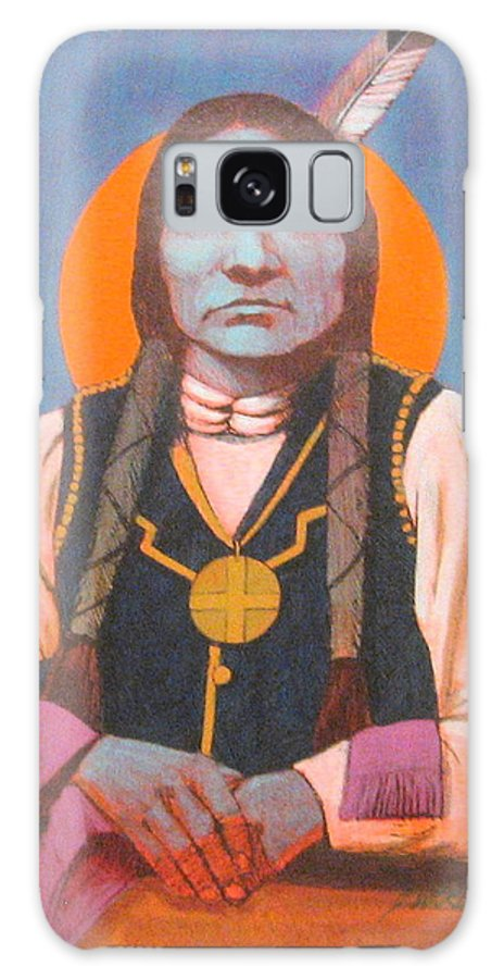 Oglala Sioux Warrior Chief Galaxy S8 Case featuring the painting Little Big Man by J W Kelly