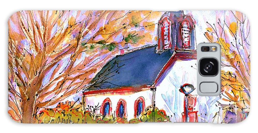 Painting Galaxy S8 Case featuring the painting Little Church In Ginsheim by Ingrid Becker