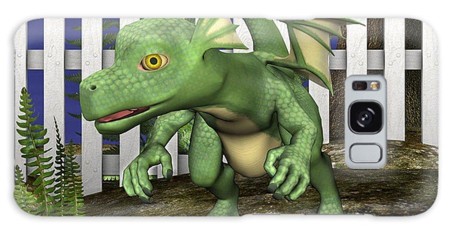 Dragon Galaxy S8 Case featuring the digital art Little Dragon by Design Windmill