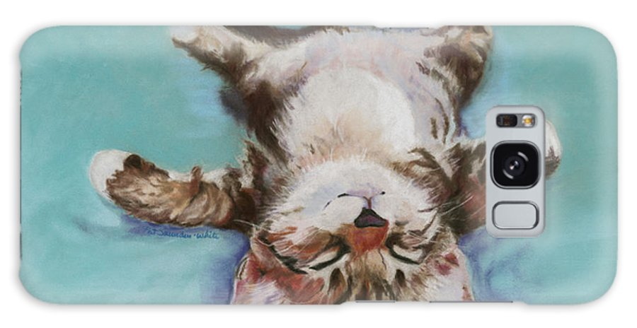 Cat Painting Galaxy S8 Case featuring the pastel Little Napper by Pat Saunders-White