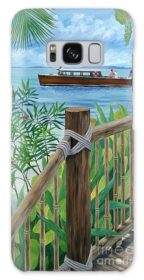Island Galaxy S8 Case featuring the painting Little Palm Island by Danielle Perry
