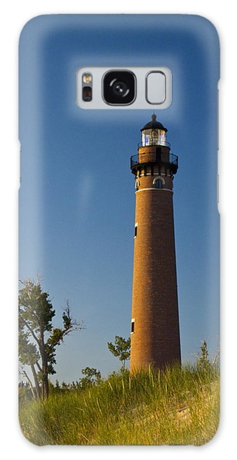 Art Galaxy S8 Case featuring the photograph Little Sable Lighthouse On The Dune By Silver Lake Michigan No.560 by Randall Nyhof