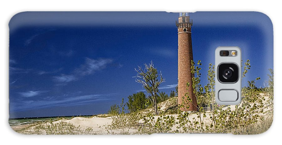 Art Galaxy S8 Case featuring the photograph Little Sable Point Light No.0285 by Randall Nyhof