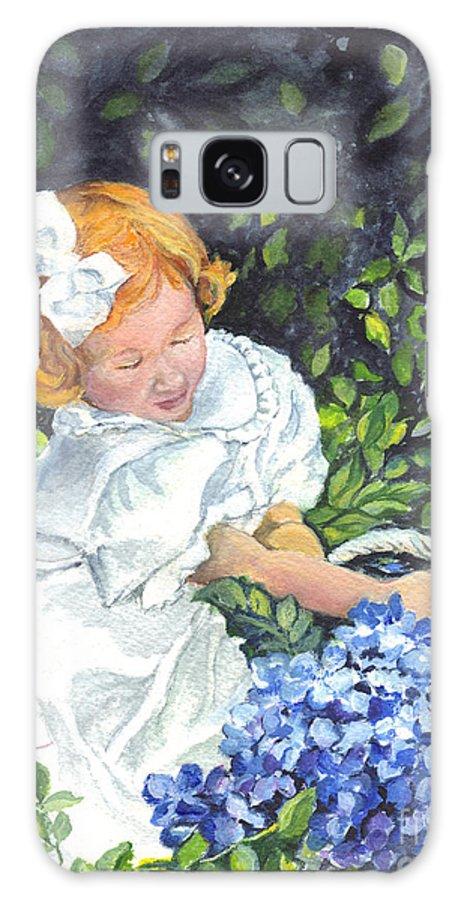 Garden Galaxy S8 Case featuring the painting Sophies Hydrangeas by Carol Wisniewski