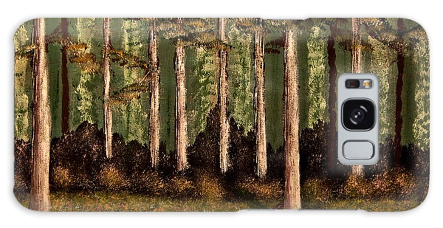 Stream Galaxy S8 Case featuring the painting Little Stream In The Deep Woods II by Tim Townsend