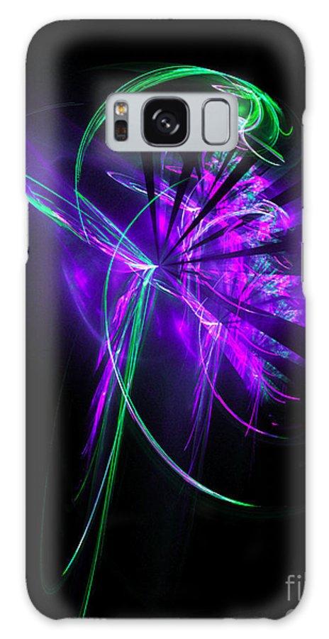 Flower Galaxy S8 Case featuring the digital art Little Violet Flower by Klara Acel