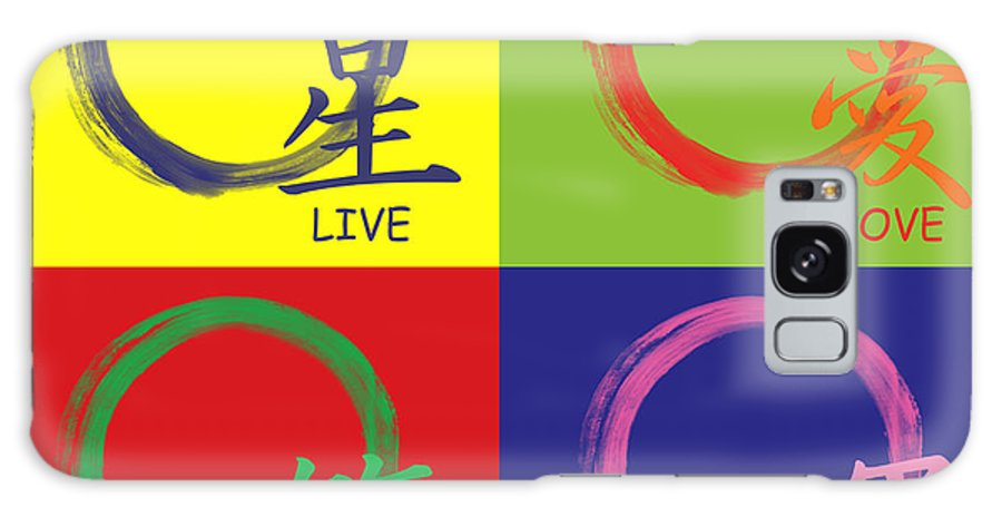 Live Galaxy S8 Case featuring the painting Live Laugh Love Luck by To-Tam Gerwe